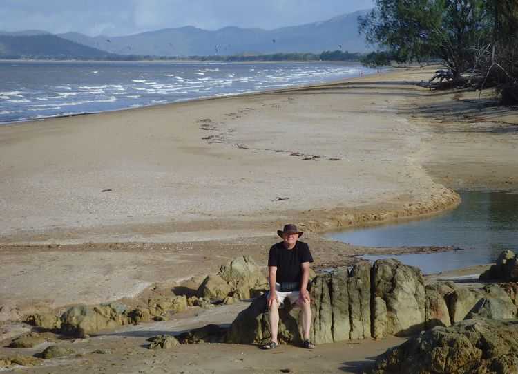 Chas on the beach